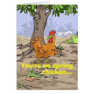 Funny Birthday Wishes - Spring Chicken Greeting Card