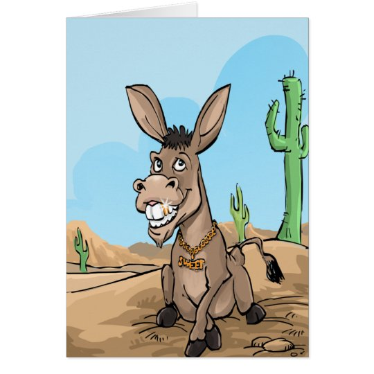 Funny Birthday Wishes - Sweet Donkey Card