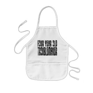 Funny Birthdays Four Year Old Troublemaker Aprons