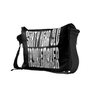 Funny Birthdays : Sixty Year Old Troublemaker Courier Bag