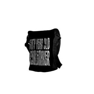 Funny Birthdays Sixty Year Old Troublemaker Courier Bags