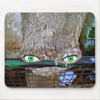 Funny bizarre Alien Tree Mouse Mat