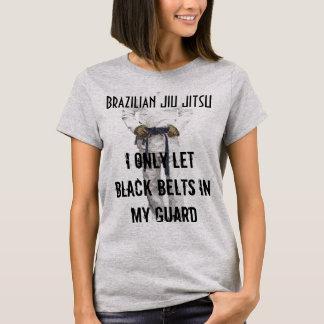 Funny Bjj tshirt Only Let Black Belts