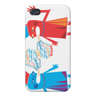 Funny Blabber Cartoon Characters iPhone 4 Covers