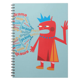 Funny Blabber Red Character Notebook