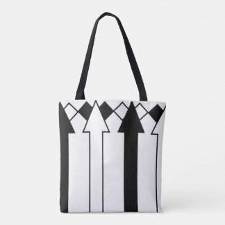 Funny Black and White Arrows Stripes Bag