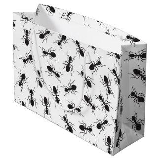 Funny Black Ants Pattern Large Gift Bag