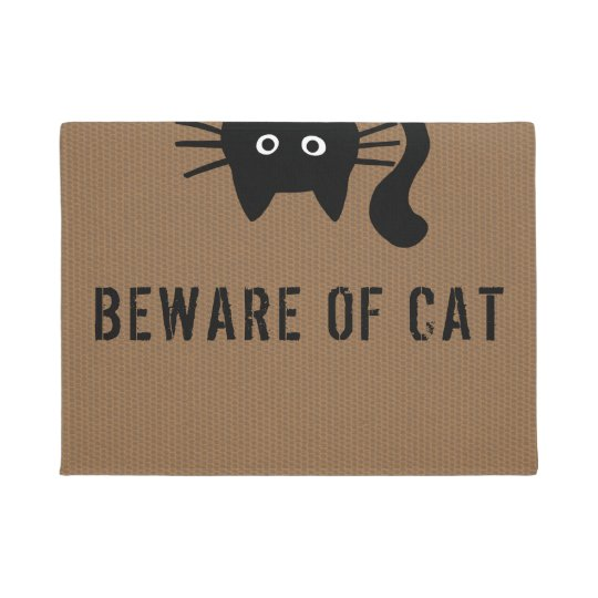 Funny Black Cat - Beware of Cat -