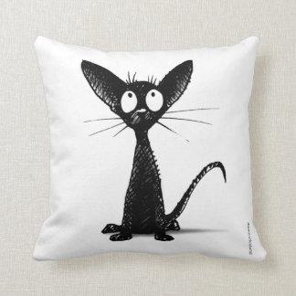 Funny Black Cat Pillow