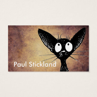 Funny Black Cat Custom Business Card