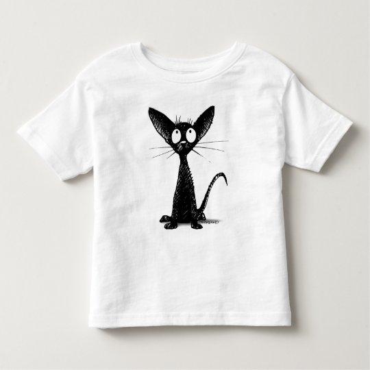 Funny Black Cat Kids Toddler T-Shirt