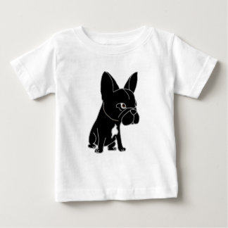 Funny Black French Bulldog Puppy Dog Baby T-Shirt