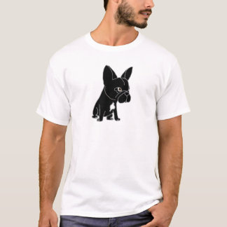Funny Black French Bulldog Puppy Dog T-Shirt