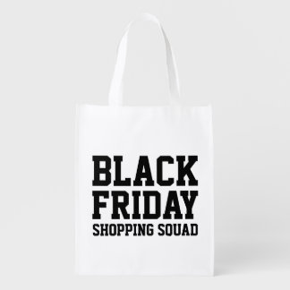 Funny Black Friday reusable grocery shopping bags