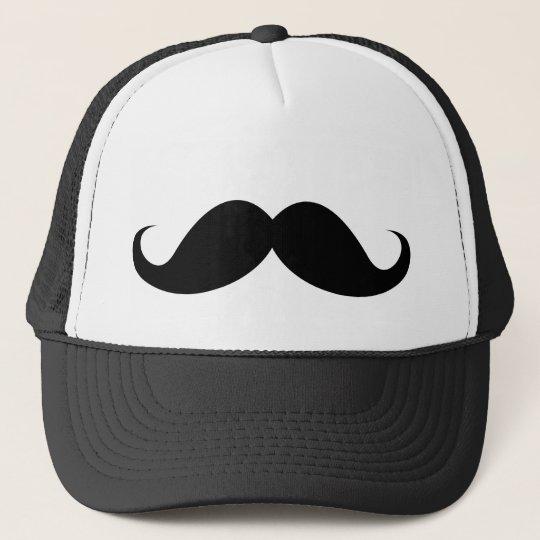 Funny black handlebar moustache moustache trucker hat