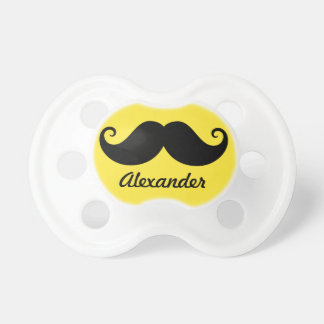 Funny black handlebar mustache stache personalized dummy