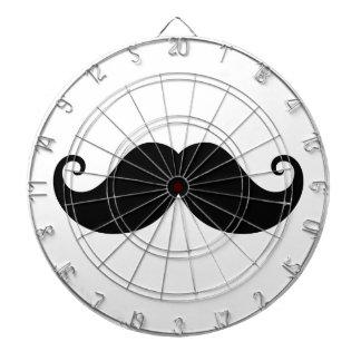 Funny black handlebar mustache trendy hipster dartboard