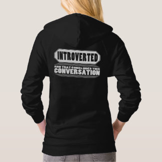 Funny Black Introvert Pullover Hoodie