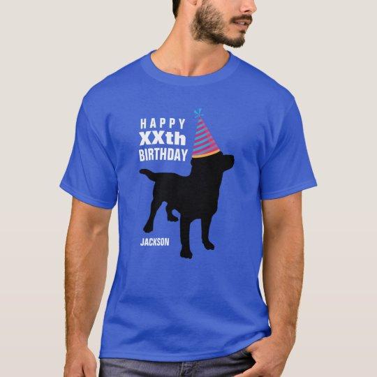 Funny Black Lab Dog Custom Age and Name