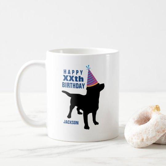 Funny Black Lab Dog Custom Birthday Coffee Mug