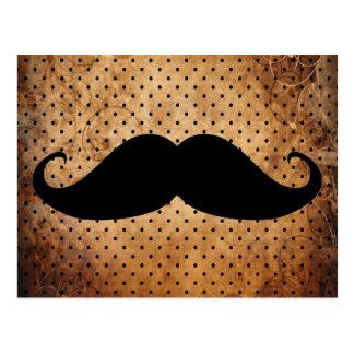 Funny Black Moustache Postcard
