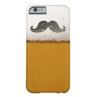 Funny Black Mustache in Beer Foam Barely There iPhone 6 Case