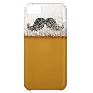 Funny Black Mustache in Beer Foam iPhone 5 Case