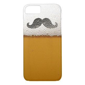 Funny Black Mustache in Beer Foam iPhone 7 Case