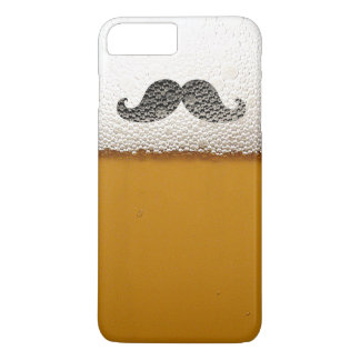 Funny Black Mustache in Beer Foam iPhone 7 Plus Case