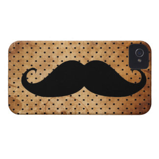 Funny Black Mustache iPhone 4 Case-Mate Case