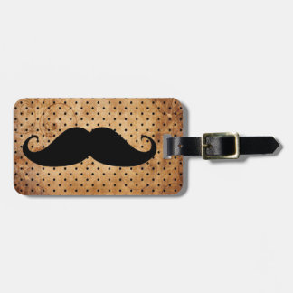 Funny Black Mustache Luggage Tag