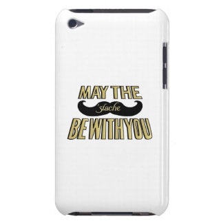 Funny Black Mustache - May the Stache be with you Barely There iPod Covers