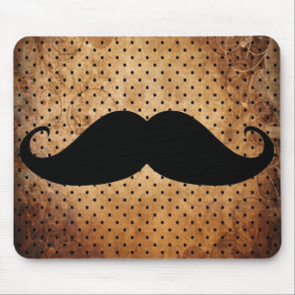 Funny Black Mustache Mouse Pads