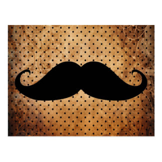 Funny Black Mustache Postcard