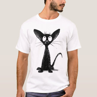 Funny Black Oriental Cat T-Shirt