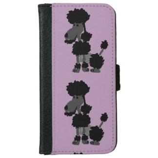 Funny Black Poodle Art Original iPhone 6 Wallet Case