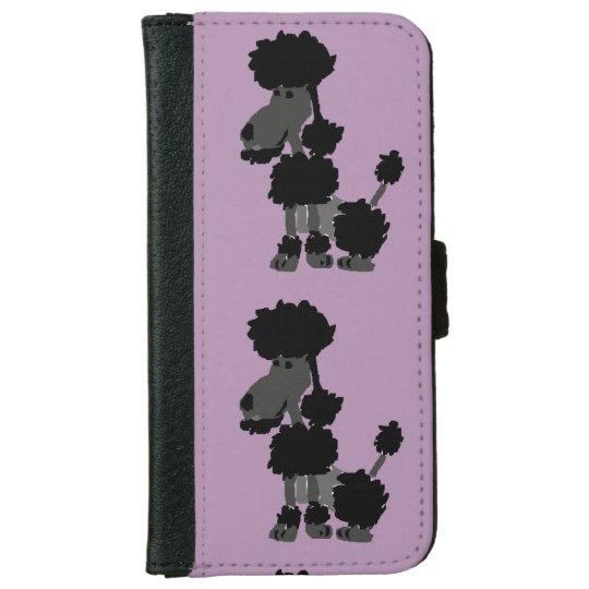 Funny Black Poodle Art Original iPhone 6 Wallet
