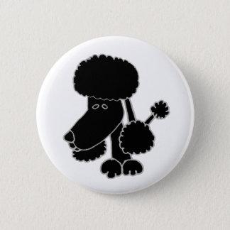 Funny Black Poodle Puppy Dog Cartoon 6 Cm Round Badge
