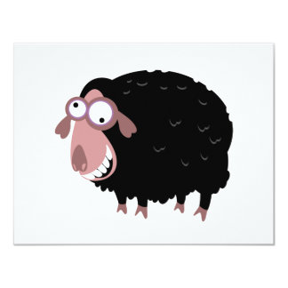 Funny Black Sheep 11 Cm X 14 Cm Invitation Card