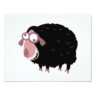 Funny Black Sheep 11 Cm X 14 Cm Invitation Card