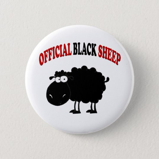 Funny black sheep 6 cm round badge