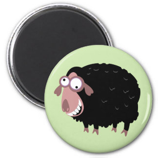 Funny Black Sheep 6 Cm Round Magnet