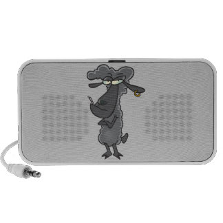 funny black sheep cartoon character portable speakers