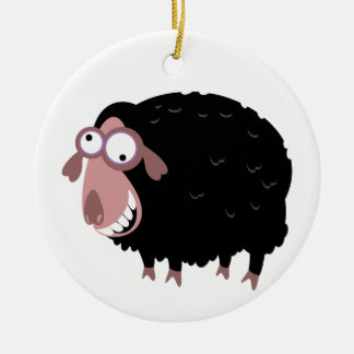 Funny Black Sheep Christmas Ornament