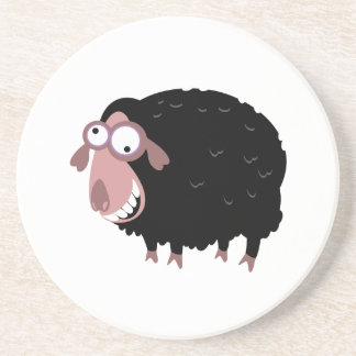 Funny Black Sheep Drink Coasters