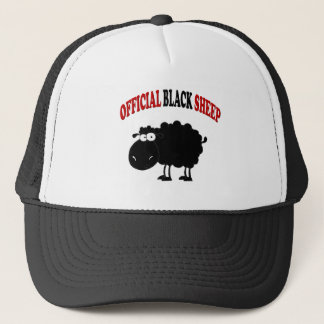 Funny black sheep trucker hat