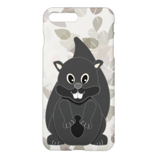 Funny Black Squirrel Cartoon Animal iPhone 7 Plus Case