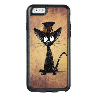 Funny Black Steampunk Cat in a Steampunk Hat OtterBox iPhone 6/6s Case