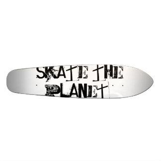 Funny Black Typography Skate The Planet Skateboards