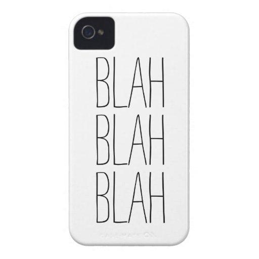 Funny blah blah blah modern trendy hipster humor iPhone 4 Case-Mate case